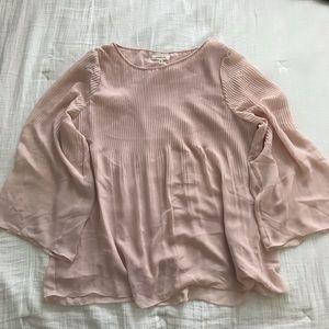 Max Studio wide sleeve blush blouse